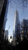 La Freedom Tower en lieu et place des Twin Towers (supposément tombées pour la liberté. C'est ce que disent les Américains en tout cas)